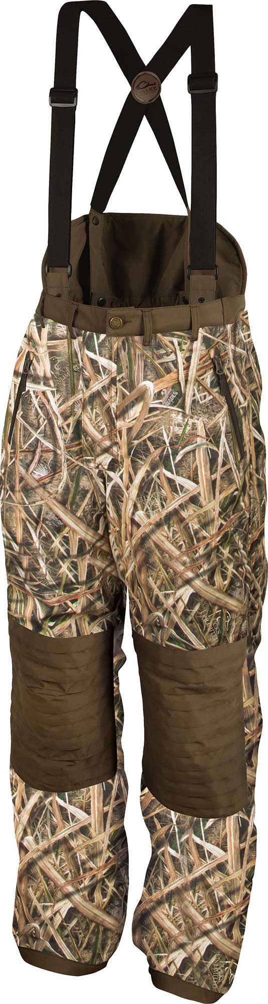Drake Waterfowl Men's Guardian Elite High-Back Hunting Pants, Size: Medium, Brown