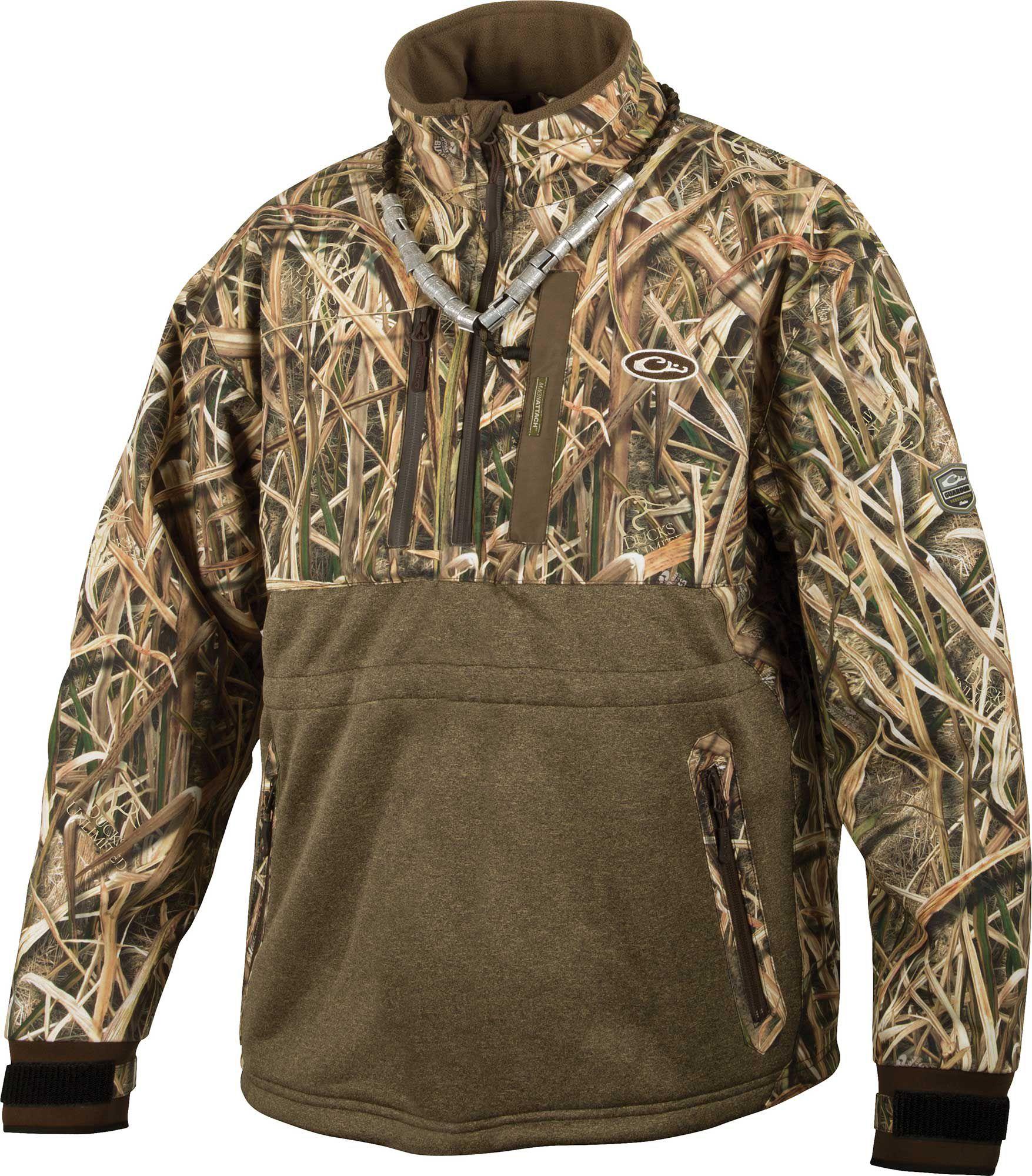Drake Waterfowl Men's Guardian Elite Eqwader ¼ Zip Hunting Jacket, Size: Large, Brown thumbnail
