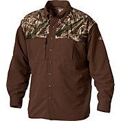 Drake Waterfowl Men's Two-Tone Vented Wingshooter's Long Sleeve Shirt