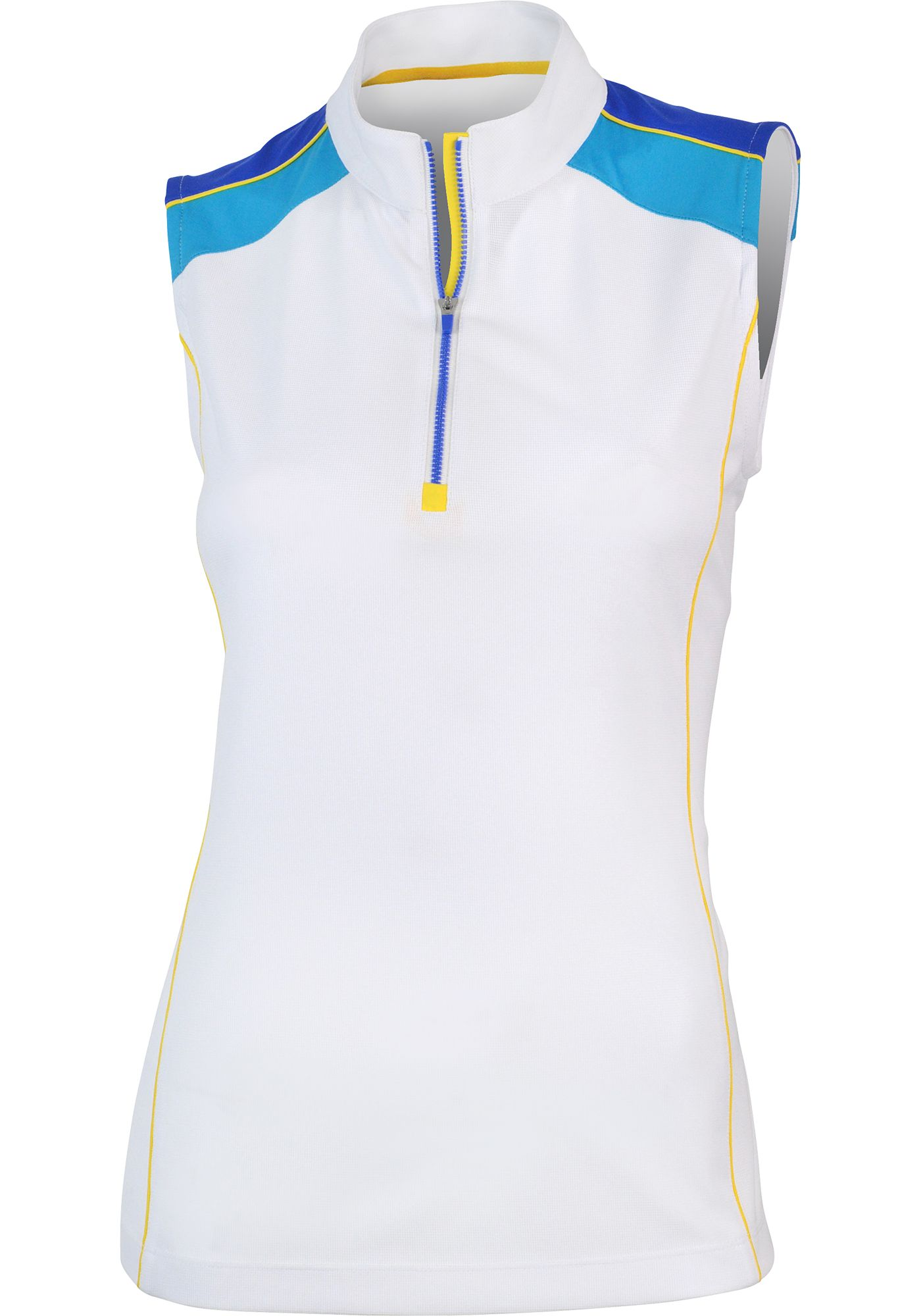 EP Women's Tour-Tech Sleeveless Zip Mock Polo