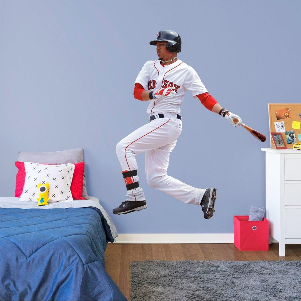 Fathead Boston Red Sox Mookie Betts Wall Decal Dicks Sporting Goods