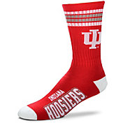 For Bare Feet Indiana Hoosiers 4-Stripe Deuce Crew Socks