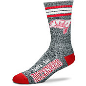 For Bare Feet Tampa Bay Buccaneers 4-Stripe Deuce Marbled Crew Socks