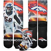 For Bare Feet Denver Broncos Von Miller Player Crew Socks