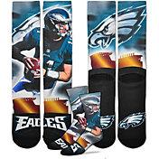 For Bare Feet Philadelphia Eagles Carson Wentz Player Crew Socks