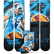 For Bare Feet Carolina Panthers Luke Kuechly Player Crew Socks