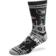 For Bare Feet Oakland Raiders Superfan Crew Socks