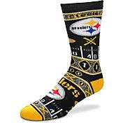 For Bare Feet Pittsburgh Steelers Superfan Crew Socks