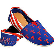 FOCO Texas Rangers Striped Canvas Shoes