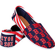 FOCO Boston Red Sox Striped Canvas Shoes