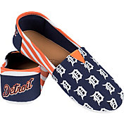 FOCO Detroit Tigers Striped Canvas Shoes
