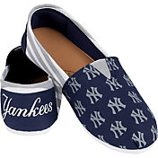 FOCO New York Yankees Striped Canvas Shoes