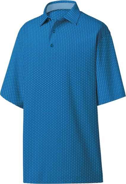 FootJoy Men's Dot Geo Jacquard Golf Polo