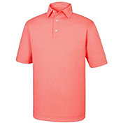 FootJoy Men's Heather Jacquard Mini Check Golf Polo