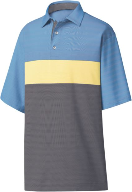 FootJoy Men's Engineered End on End Stripe Golf Polo