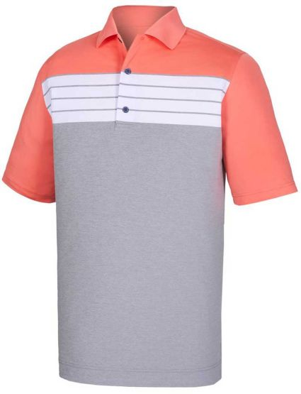 FootJoy Men's Stretch Lisle Color Block Golf Polo
