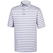 FootJoy Men's Stretch Lisle Tonal Stripe Golf Polo