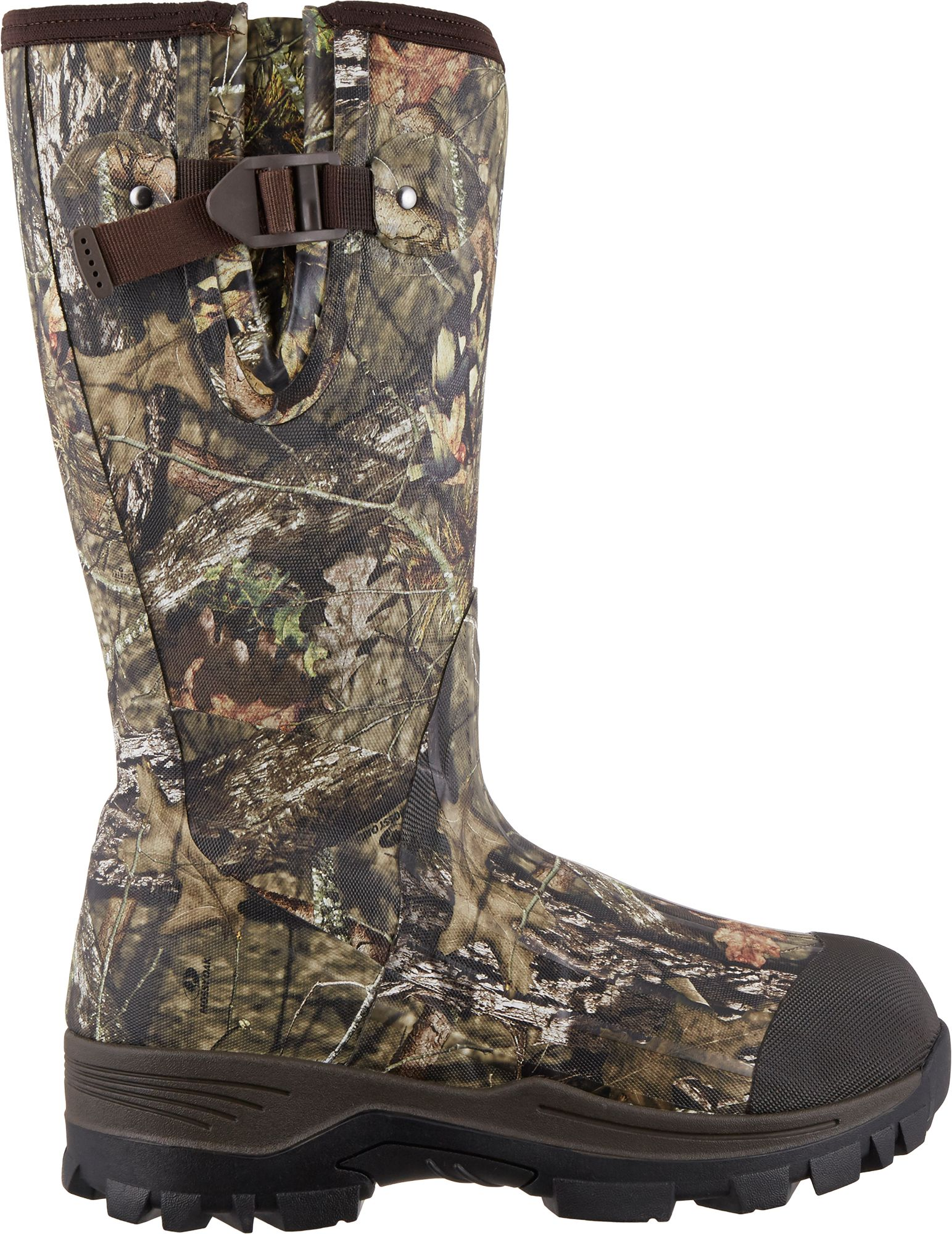 Field & Stream Men's Swamptracker Realtree Xtra Waterproof 1000g Rubber Hunting Boots, Mossy Oak Brk Up Country thumbnail