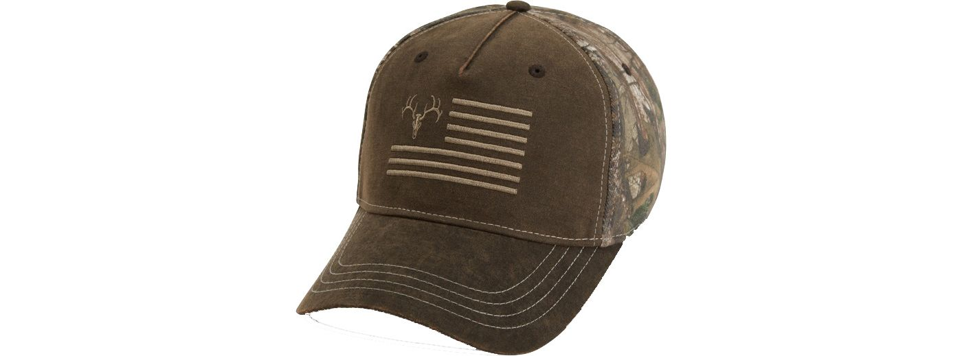 Field & Stream Men's Waxed Ember Flag Camo Hat