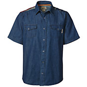 Field & Stream Men's Flag Denim Short Sleeve Shirt