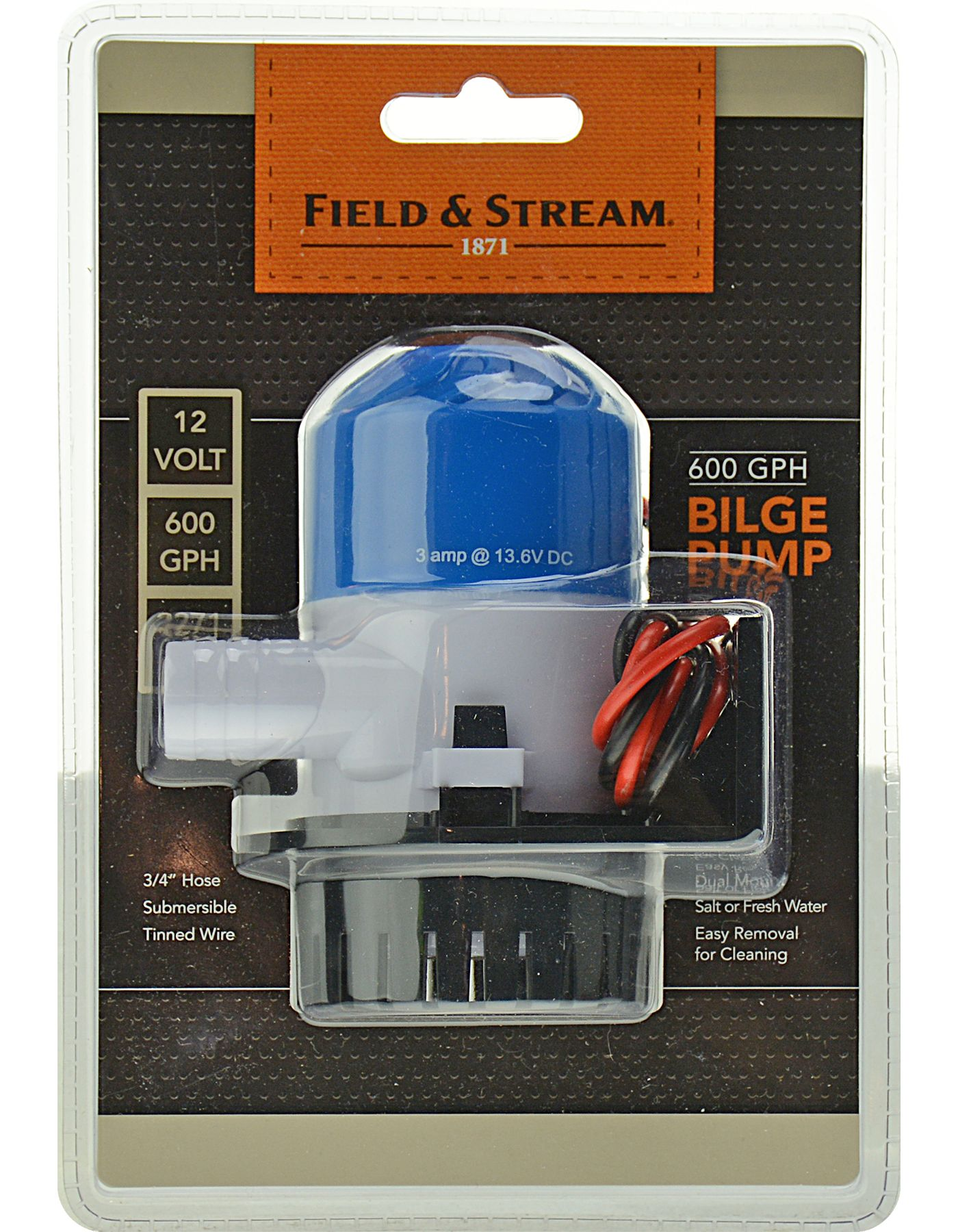 Field & Stream 600 GPH Bilge Pump