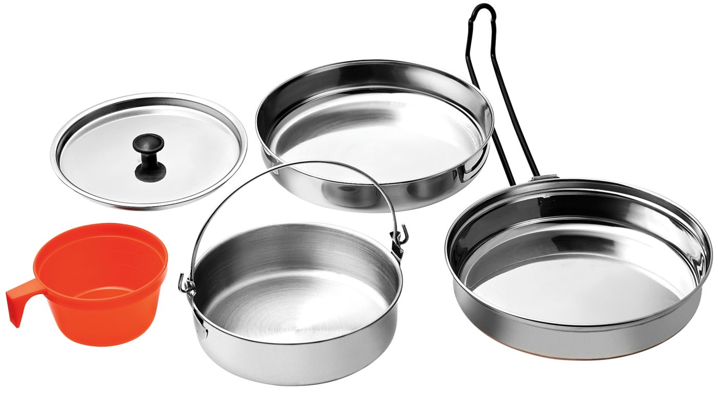 Field & Stream 5-Piece Stainless Steel Mess Kit