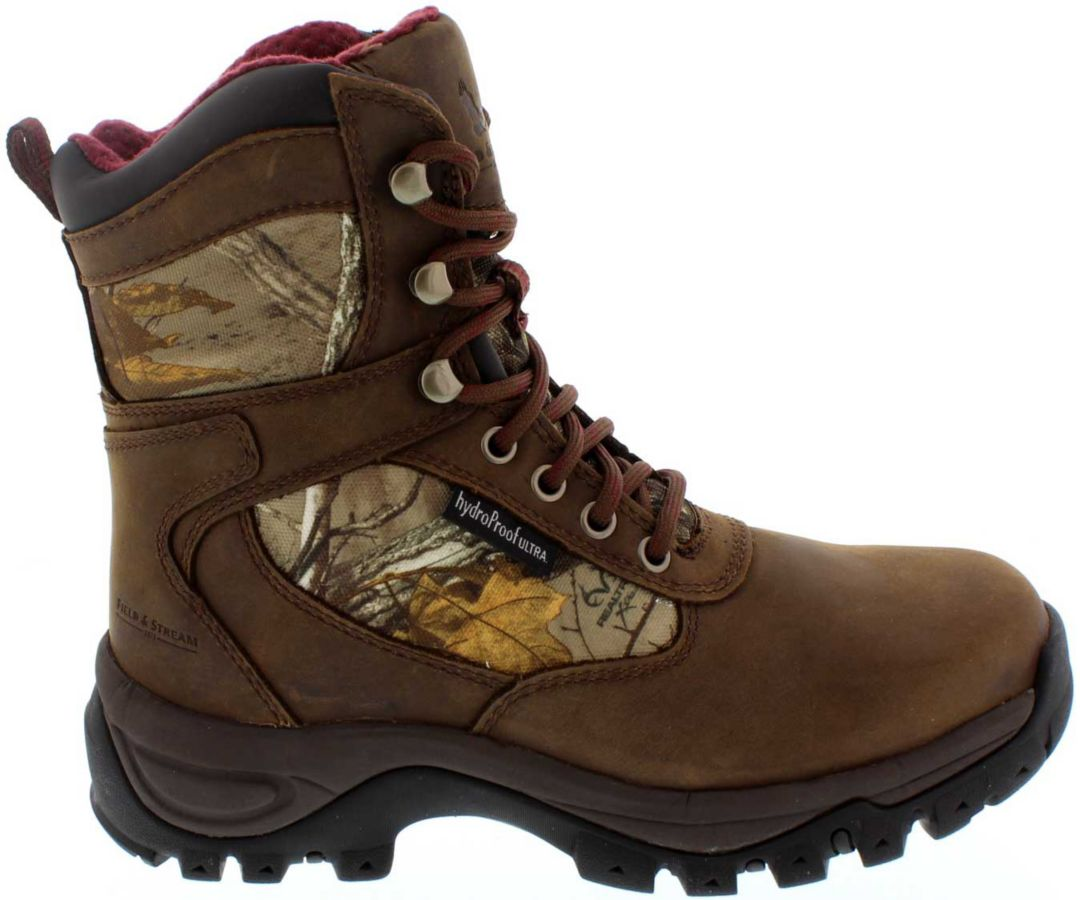 size 7 great deals best deals on Field & Stream Women's Game Trail Real Tree Xtra Waterproof 800g Field  Hunting Boots