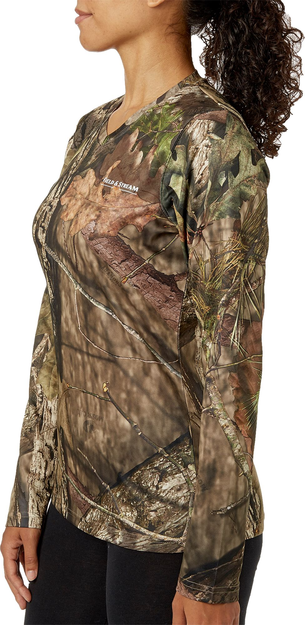 Field & Stream Women's Long Sleeve Camo Tech Tee, Size: Small, Green thumbnail
