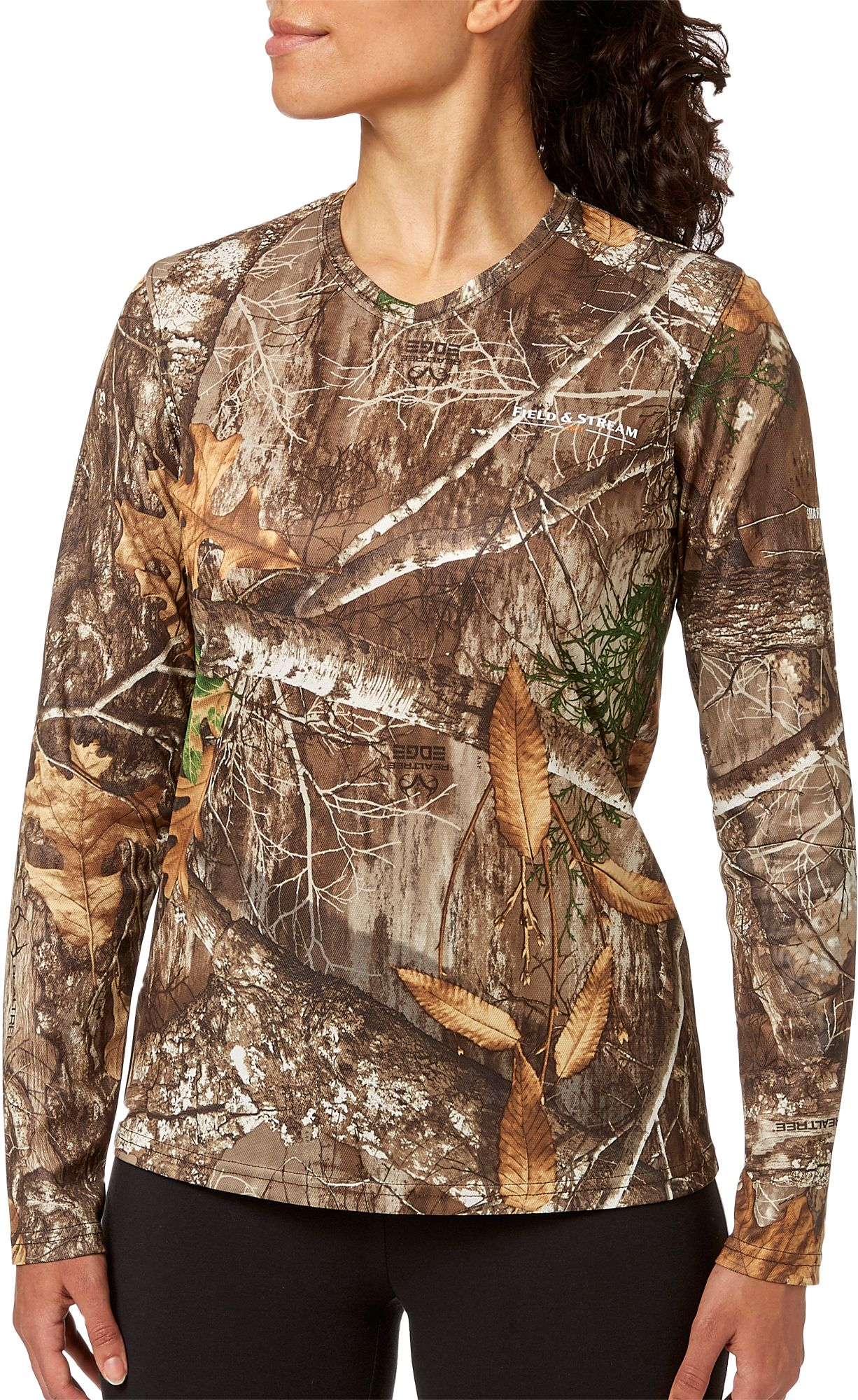 Field & Stream Women's Long Sleeve Camo Tech Tee, Size: Small, Multi thumbnail