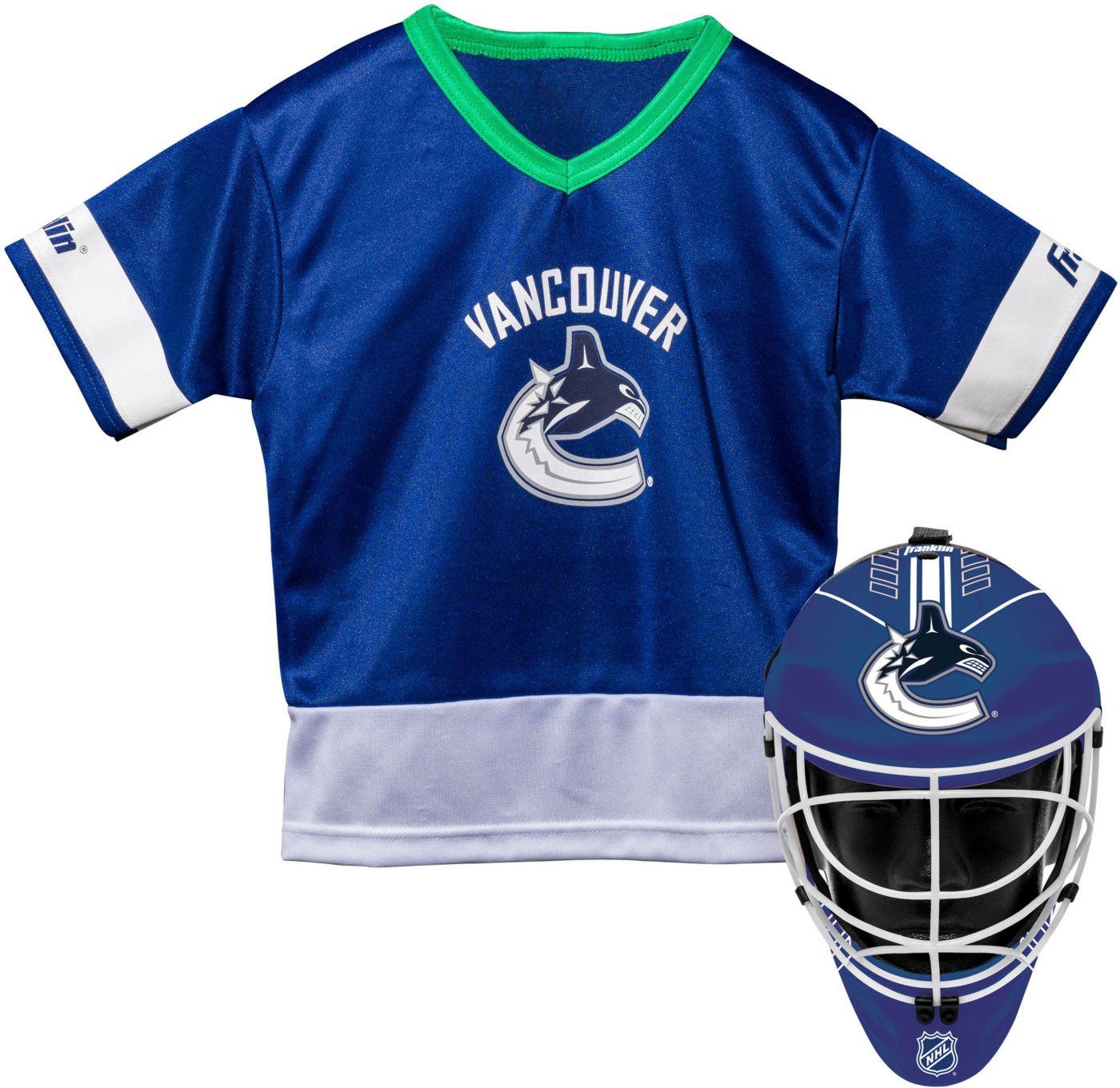 Franklin Vancouver Canucks Goalie Uniform Costume Set