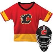 Franklin Calgary Flames Goalie Uniform Costume Set