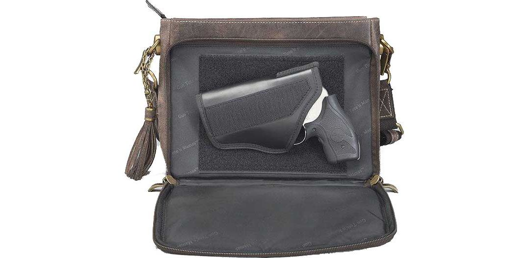 6708d84ac83 Gun Tote'n Mamas Distressed Buffalo Leather Concealed Carry Handbag