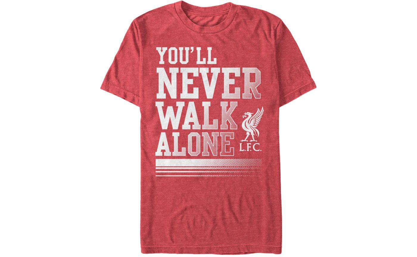 Fifth Sun Men's Liverpool Never Walk Alone Red T-Shirt