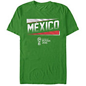 Fifth Sun Men's FIFA 2018 World Cup Russia Mexico Slanted Green T-Shirt