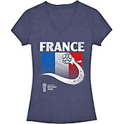 Fifth Sun Women's FIFA 2018 World Cup Russia France Trophy Logo Navy T-Shirt