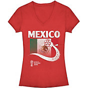 Fifth Sun Women's FIFA 2018 World Cup Russia Mexico Trophy Logo Red T-Shirt