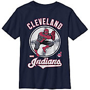 Fifth Sun Youth Cleveland Indians Marvel Comics 'Spider-Man' Navy T-Shirt
