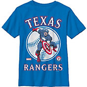 Fifth Sun Youth Texas Rangers Marvel Comics 'Captain America' Royal T-Shirt