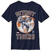 Fifth Sun Youth Detroit Tigers Marvel Comics 'Thor' Navy T-Shirt