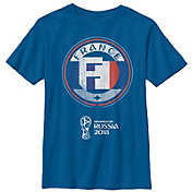 Fifth Sun Youth FIFA 2018 World Cup Russia France Contrast Round Royal T-Shirt