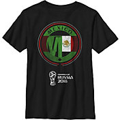 Fifth Sun Youth FIFA 2018 World Cup Russia Mexico Contrast Round Black T-Shirt