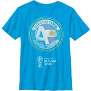 Fifth Sun Youth FIFA 2018 World Cup Russia Argentina Contrast Round Light Blue T-Shirt