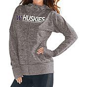 G-III For Her Women's Washington Huskies Grey Receiver Full-Zip Hoodie