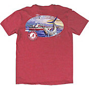 Guy Harvey Men's Alabama Crimson Tide Heathered Crimson Fishing Club T-Shirt