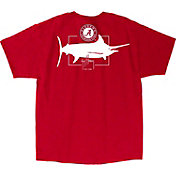 Guy Harvey Men's Alabama Crimson Tide Crimson Logo T-Shirt