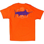 Guy Harvey Men's Clemson Tigers Orange Logo T-Shirt