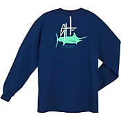 Guy Harvey Men's Initial Logo Long Sleeve Shirt