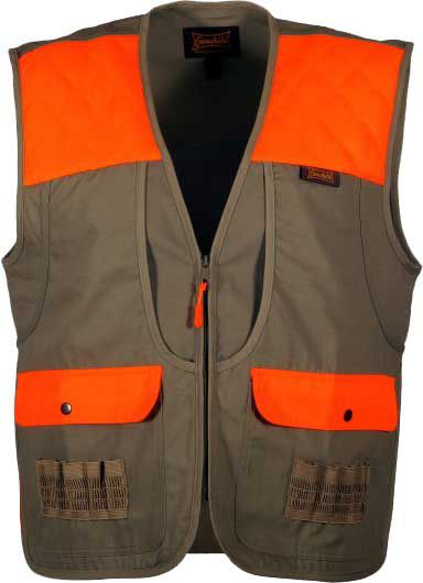 Gamehide Men's Shelterbelt Upland Hunting Vest, Large, Khaki/Blaze
