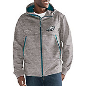 G-III Men's Philadelphia Eagles Expedition Soft Shell Grey Full-Zip Jacket