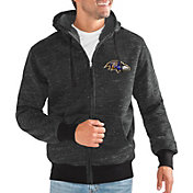 G-III Men's Baltimore Ravens Discovery Black Full-Zip Jacket